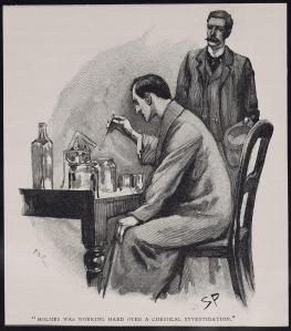 """Holmes...I beg you--no homemade cologne this Christmas!"""