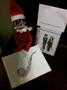 John the Elf, displaying today's prize.