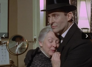 Holmes isn't very good at this touching reunion stuff.