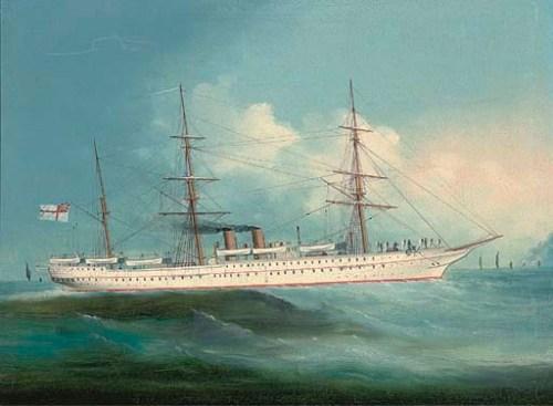 HMS Orontes of John Watson fame.