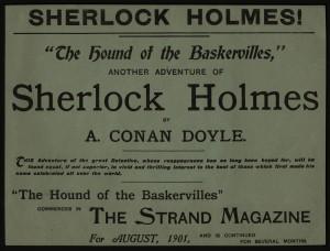 HOUN broadsheet, advertising story in Strand