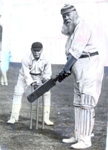 W.G. Grace. The beard is for faking out his opponents.