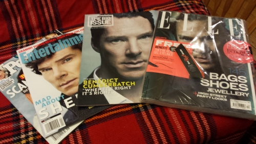 People, Entertainment Weekly, The Big Issue, and Elle UK (still in wrapper)