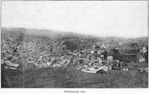Pottsville, PA, circa 1868. One has to imagine that McParlan was glad to put the whole Schuylkill Valley behind him.