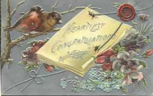 vintage congrats birds